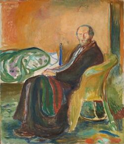 """""""Selvportrett i spanskesyken"""" (1919) de Edvard Munch"""