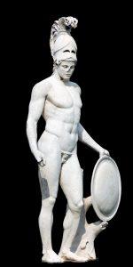 Réplica de la escultura de Ares en Villa Adriana