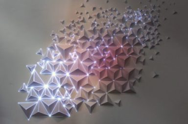 installation Paper and Light of the French artist Joanie Lemercier